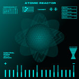 Atomic reactor Futuristic virtual graphic touch user interface Royalty Free Stock Photo