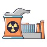 Atomic reactor icon, cartoon style. Atomic reactor icon. Cartoon illustration of atomic reactor vector icon for web Stock Image