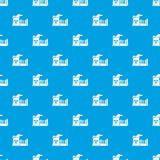 Atomic reactor pattern vector seamless blue. Repeat for any use Royalty Free Stock Images