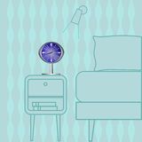 Atomic Retro Clock Royalty Free Stock Photos