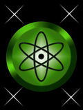 Atomic sign. Atomic nuclear sign with nice green colour Royalty Free Stock Image