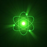 Atomic sign atom structure halo Stock Photography