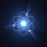 Atomic sign atom structure halo vector illustration