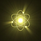 Atomic sign atom structure light halo royalty free illustration