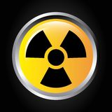 Atomic signal button isolated icon design Royalty Free Stock Photos