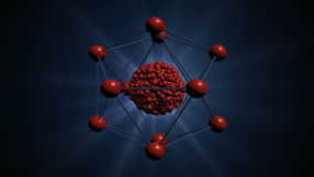 Atomic structure 3d animation stock video footage