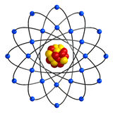 Atomic structure Royalty Free Stock Image