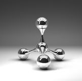 Atomic structure on gray background Royalty Free Stock Images