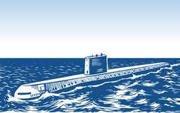 Atomic submarine Royalty Free Stock Images