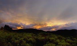 Atomic sunrise Sky. Atomic Sky over Ibiza (Sunrise) Cala Carbo, Spain Royalty Free Stock Image