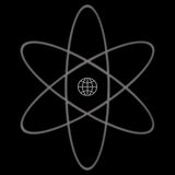 Atomic Symbol. A black illustration of a simple atom symbol Royalty Free Stock Photos