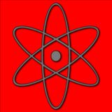 Atomic Symbol. A red illustration of a simple atom symbol Royalty Free Stock Photo
