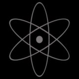 Atomic Symbol. A black illustration of a simple atom symbol Royalty Free Stock Images