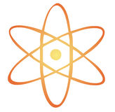 Atomic symbol. Nuclear energy illustration Stock Images