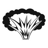 Atomical explosion icon, simple style. Atomical explosion icon. Simple illustration of atomical explosion vector icon for web Stock Photography
