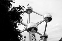 Atomium in Brussels Royalty Free Stock Photos