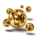 Atomium de oro de la bola de espejo del disco Imágenes de archivo libres de regalías