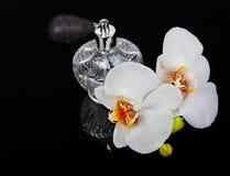 Atomizador lujoso de la botella de perfume Fotos de archivo