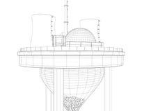 Atomkraftwerk auf Borduhr Lizenzfreie Stockfotos