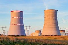 Atomkraftwerk, das im Bau ist Lizenzfreie Stockbilder