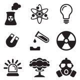 Atomkraftwerk-Ikonen Stockfoto