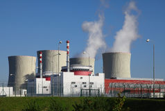 Atomkraftwerk Temelin in der Tschechischen Republik Europa Stockbild