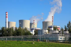 Atomkraftwerk Temelin in der Tschechischen Republik Europa Stockfotos