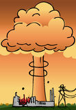 Atomkraftwerk-Unfall Lizenzfreie Stockbilder