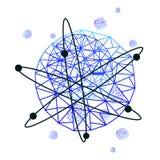 Atomlogo i vektorn EPS 10 Fotografering för Bildbyråer