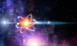 Atommolekylabstrakt begrepp arkivbilder