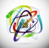 Atomo astratto illustrazione vettoriale