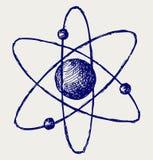 Atomo astratto Immagine Stock