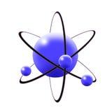 Atomo in azzurro illustrazione di stock