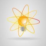 Atomo di energia della lampadina Immagine Stock Libera da Diritti