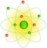 Atomo e gli elettroni intorno Fotografie Stock