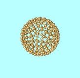 Atomo-Sfera dorata Fotografia Stock Libera da Diritti