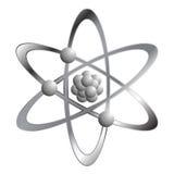 Atomo sopra bianco Fotografia Stock