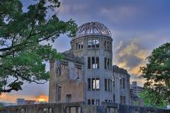 Atomowa bomba w wojnie, w Hiroszima, Japonia Zdjęcie Stock