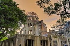 Atomowa bomba w wojnie, w Hiroszima, Japonia Obrazy Stock