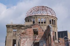 Atomowa kopuła w Hiroszima pokoju Memorial Park Zdjęcia Royalty Free