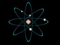 Atomowa struktura royalty ilustracja