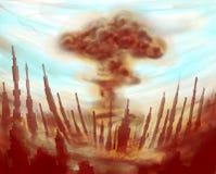 Atomowy grzyb atomowy ilustracja wektor