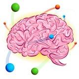 atomowy mózg royalty ilustracja