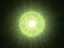 Atomowy promieniotwórczy jądrowy sedno ilustracji