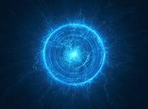 Atomowy promieniotwórczy jądrowy sedno ilustracja wektor