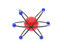 Atoms. High resolution image. Model of atoms and protons Royalty Free Stock Images