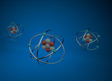Atoms 3D Royalty Free Stock Photography