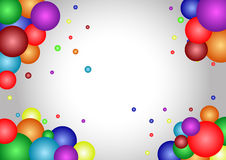 Atoms frame background Stock Photography