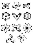 Atoms or molecules symbols Stock Image