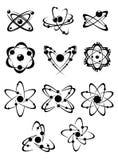 Atoms or molecules symbols Stock Image